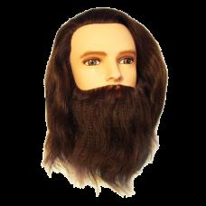 Болванка муж. с бородой длина волос 30-35 см. плотн. 300/см
